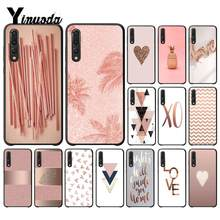 Yinuoda For Huawei P20 Pro Case Love Heart Pineapple Gold Rose Cell Phone Cover for Huawei Honor View 10 Mate10 lite P10 P20(China)