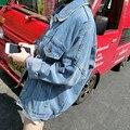 Новая Коллекция Весна Женщины Blue Coat Vintage Бомбардировщик Куртка Одежда женская Верхняя Одежда Осень Куртка Джинсовая Хлопок Свободные Повседневная Бейсбол Пальто