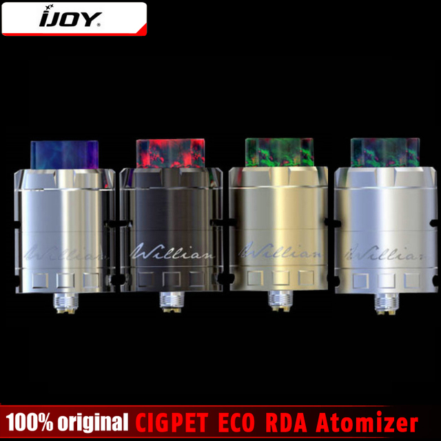 Оригинал IJOY cigpet эко rda распылителя e-сигареты ввиду распылитель 510 нить большой поток воздуха смолы потека эко распылитель плотных парах