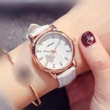 купить Watch Cute Fashion Luminous Watch Belt Watch Waterproof Ladies Watch Female High School Student Trend  Fashion & Casual по цене 637.63 рублей
