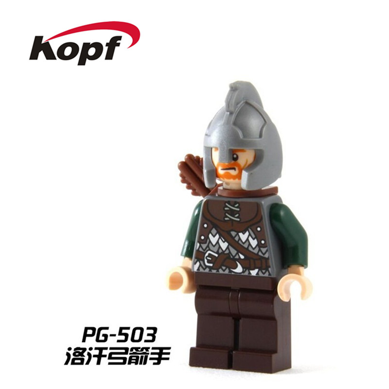 Single Sale Lord of the Rings Rohan Archer Boromir The Battle of Helm's Deep Building Blocks Education Toys for children PG503