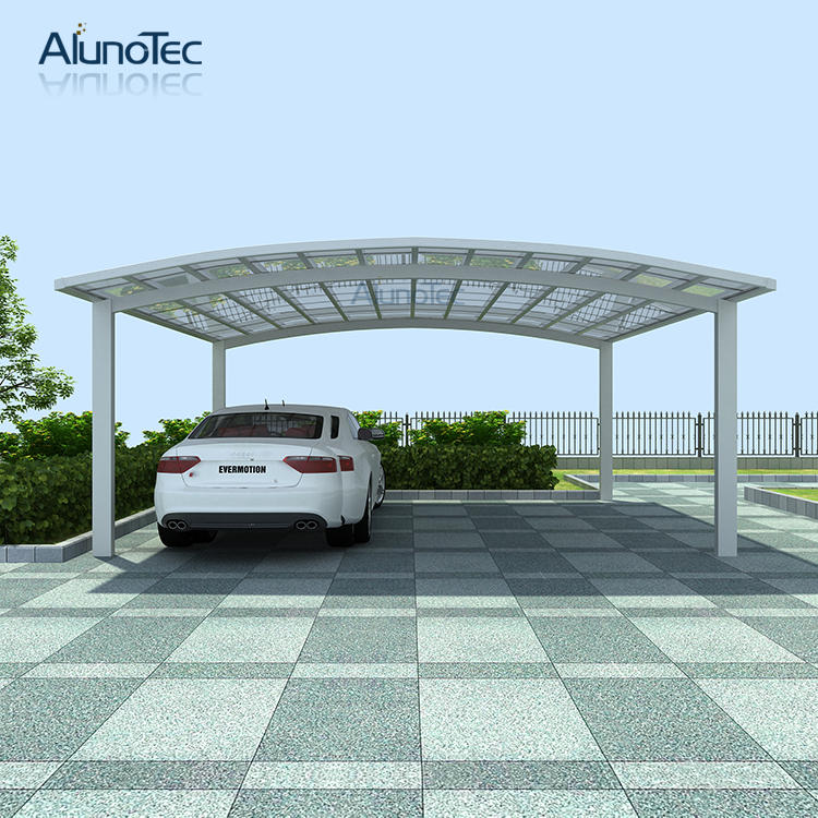 Waterproof Aluminum Polycarbonated Carport Car Shelter 5 5m Length