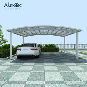 waterproof aluminum polycarbonated carport car shelter 55m