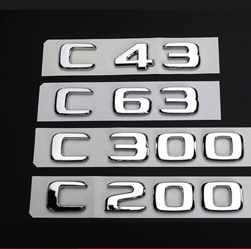 Gloss Black C220 Flat Benz Car Model Numbers Letters Badge Emblem For Benz C Class W202 W203 W204 W205 AMG