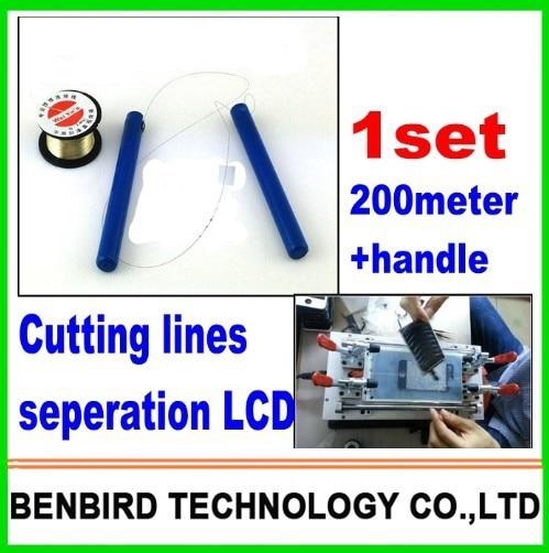 1 компл. ручка + 200 м линии резки строки для отдельного исправить ремонта обновляют машина сепаратор для iPhone 4 4s 5, для samsung B4057