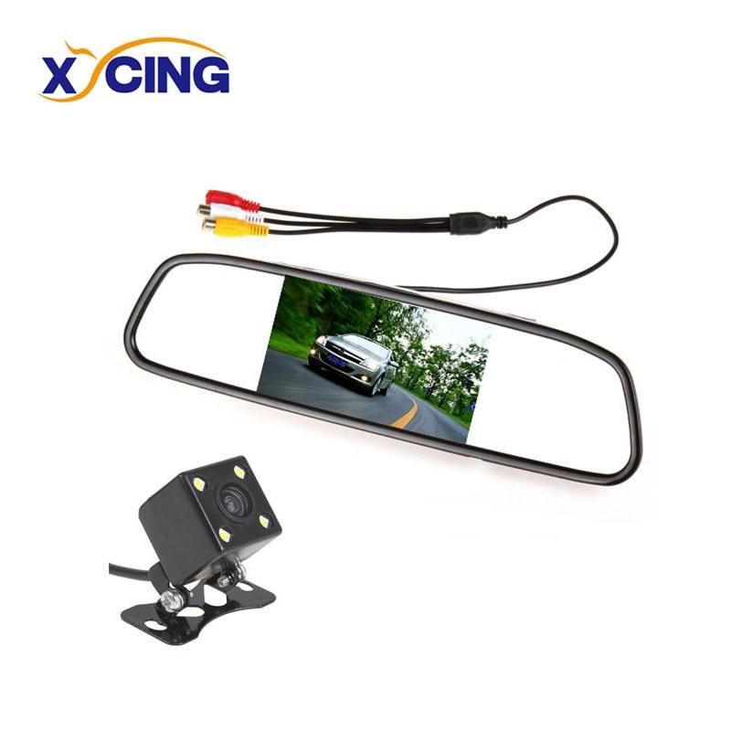 XYCING Monitor de espejo retrovisor de 4,3 pulgadas (480 x 272) Ayuda - Electrónica del Automóvil