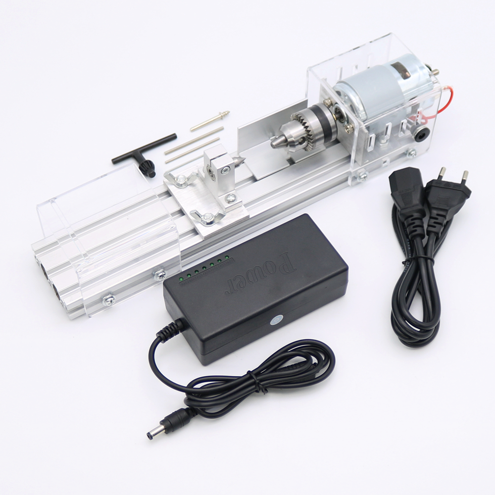 Mini Lathe Bead Machine Woodworking DIY Lathe Polisher Cutting Drill Rotary Tool 1pcs multifunctional mini bench lathe machine electric grinder polisher drill saw tool 350w 10000 r min