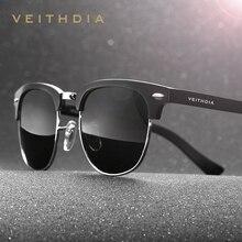 VEITHDIA Al-Mg Alloy Polarized Vintage Retro Sunglasses Men Brand Designer Square Women Sun Glasses gafas oculos de sol  6690