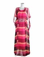 African dress for women kaftan caftan plus size long Embroidery chiffon dress gown african fashion turkish arabic dress LF 18