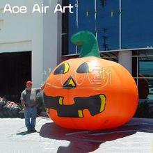 3 м х гигантская надувная тыква на Хэллоуин модель фонаря для рекламы
