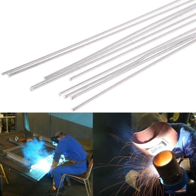 10Pcs 1.6x450mm Hypothermia Low Temperature Aluminium Welding Rod Wire Electrode