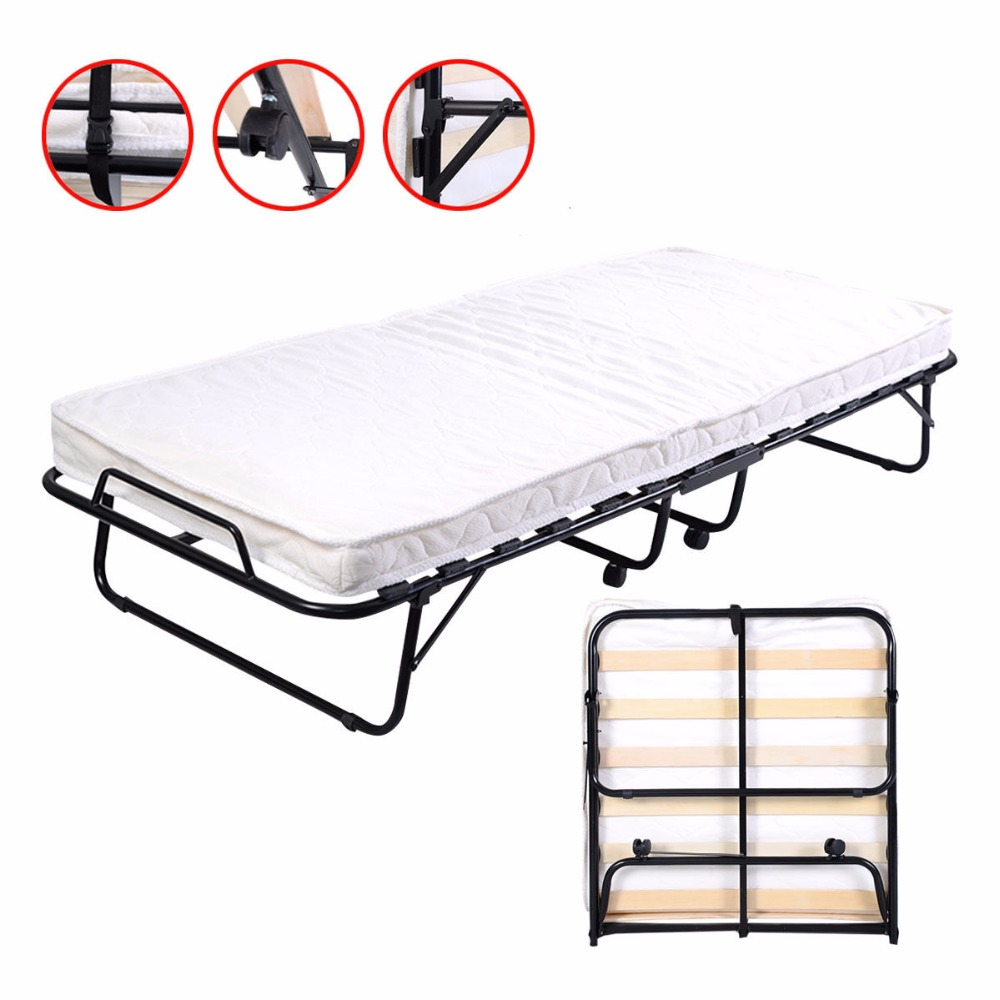 Folding Bed Foam Mattress Twin Roll Away Guest Portable Sleeper Pull Out  HW51123 46pcs socket set 1 4 drive ratchet wrench spanner multifunctional combination household tool kit car repair tools set