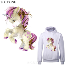 ZOTOONE Cool Unicorn Patches Iron on Transfers for Clothing DIY T-shirt Heat Transfer Vinyl Stickers Clothes Thermal Press E