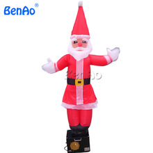 AD042 DHL Бесплатная доставка + вентилятор 2 м надувные Рождество Санта танцор воздуха/Санта Клаус Рождество танцор воздуха для продажи
