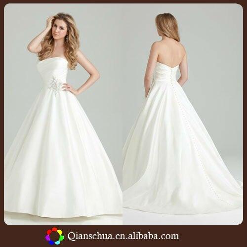 2013 Simple Design Cheap Applique Net Satin Ball Gown Skirt Floor ...