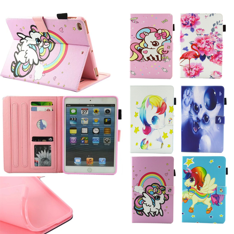 Tablet Case for iPad Mini 1 2 3 4 Kid Unicorn PU Leather Flip Magnetic Closure Stand Cases Cover for iPad Mini cover for ipad mini