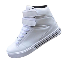 Shoes Hip Hop Men Shoes British Style High Tops White Korean Fashion Casual Shoes Lace Up