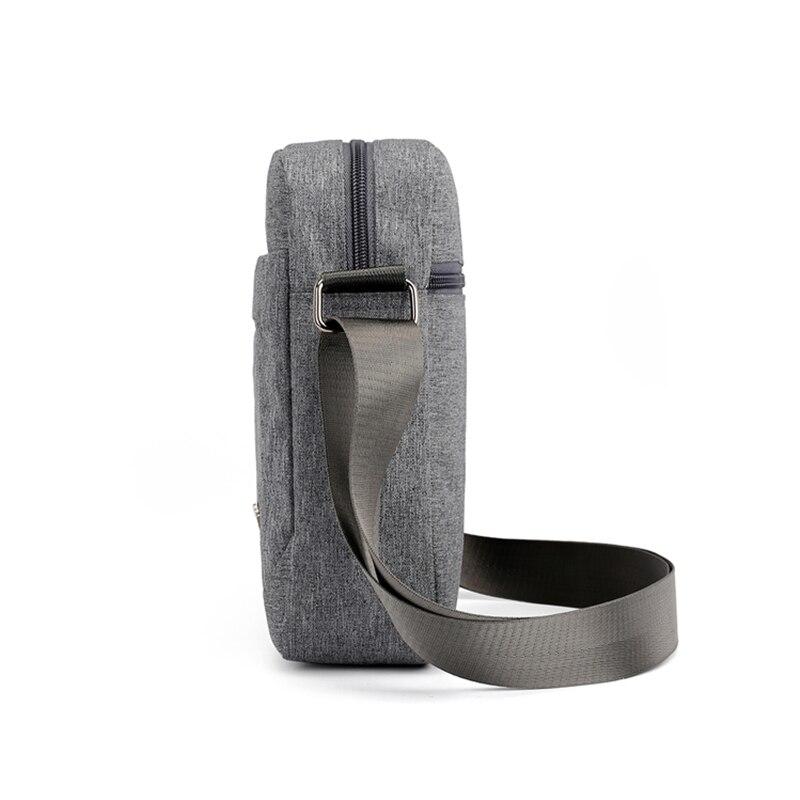 Solid Flap Bag College style Nylon Messenger Bag for Men Contracted Joker Crossbody Bag Lightweight Practical Shoulder Bag 5