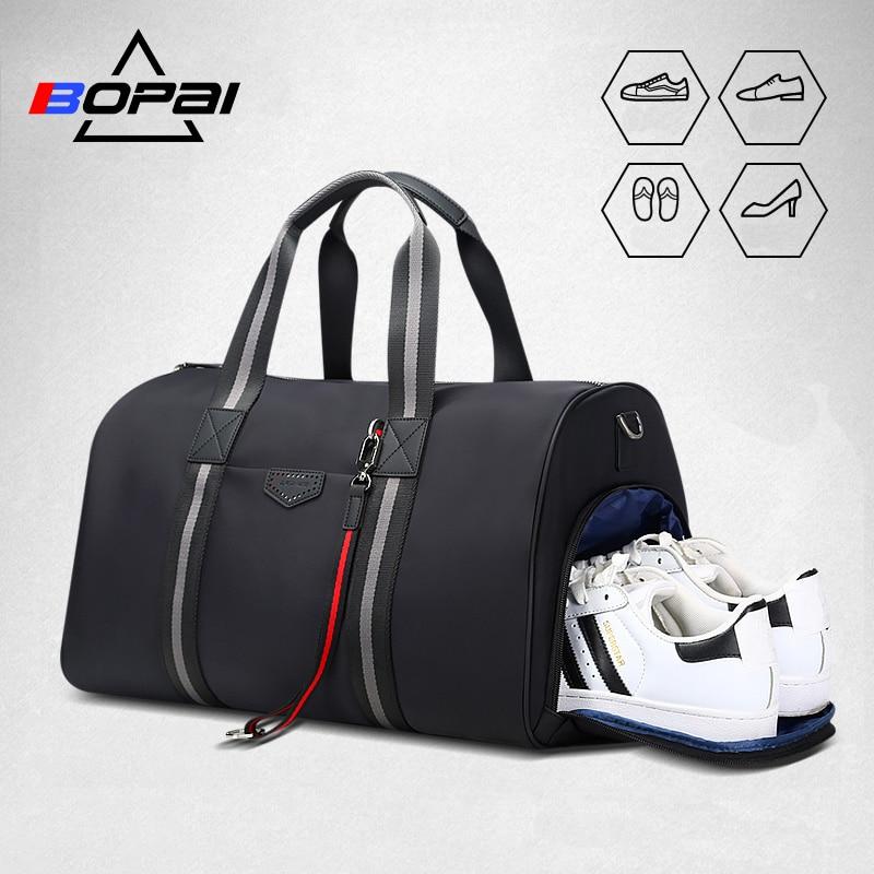 Bopai 여행 가방 대용량 다기능 손 가방 방수 신발 가방 고품질 어깨 crossbody 여행 가방-에서여행 가방부터 수화물 & 가방 의  그룹 1