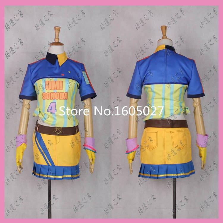 Love Live Sonoda Umi Baseball Ver Awakened Figure Cosplay Costume Uniform font b Sport b font