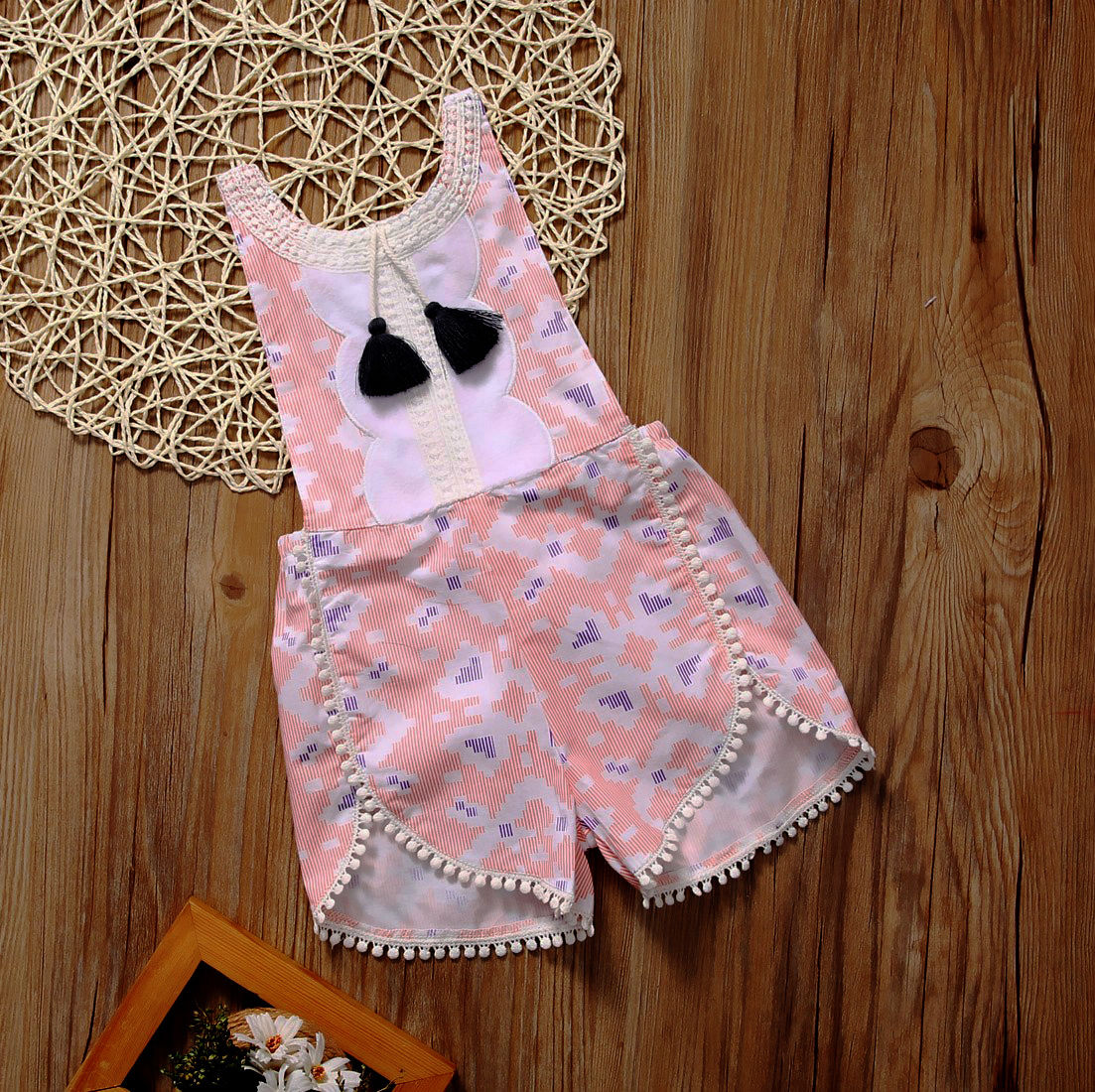 Toddler Infant Baby Girl Strappy Floral Romper Jumpsuit Jumper Sunsuit Clothes