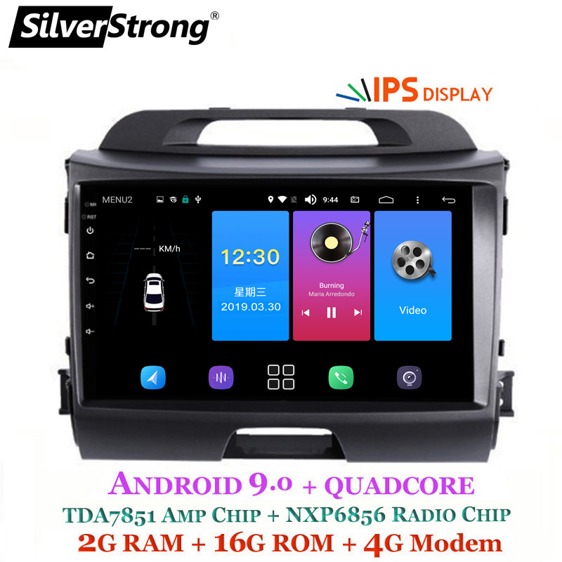 SilverStrong Android9 0 IPS Car Android Radio For KIA SPORTAGE 3 2009 2015 Navi SportageR GPS
