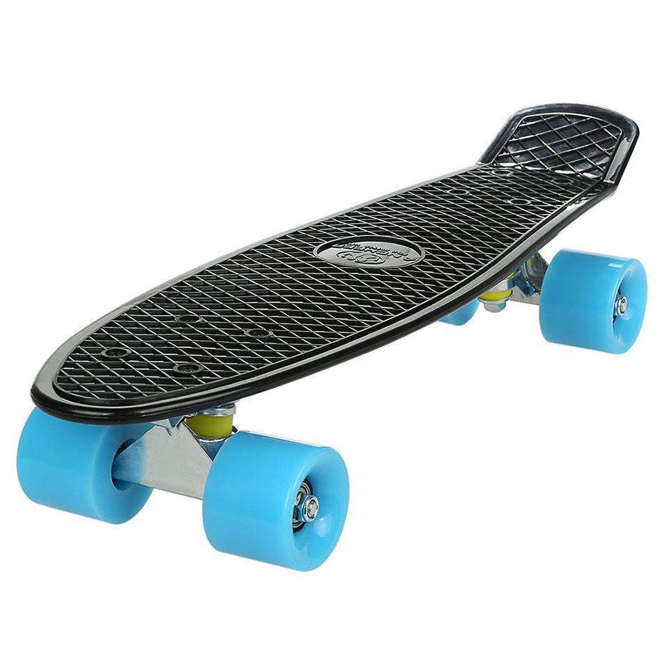 ANCHEER Coloré Quatre-Roue Mini Cruiser Skate Longboard Pont Complet Rétro Classique Style Mini Skate Board Adultes ou Enfants