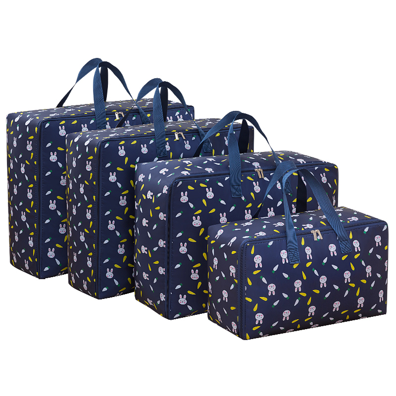 4 unids/set de gran capacidad Oxford bolsa de almacenamiento M + L + 2 unids XL organizador de armario para edredón paño viaje equipaje contenedor impermeable