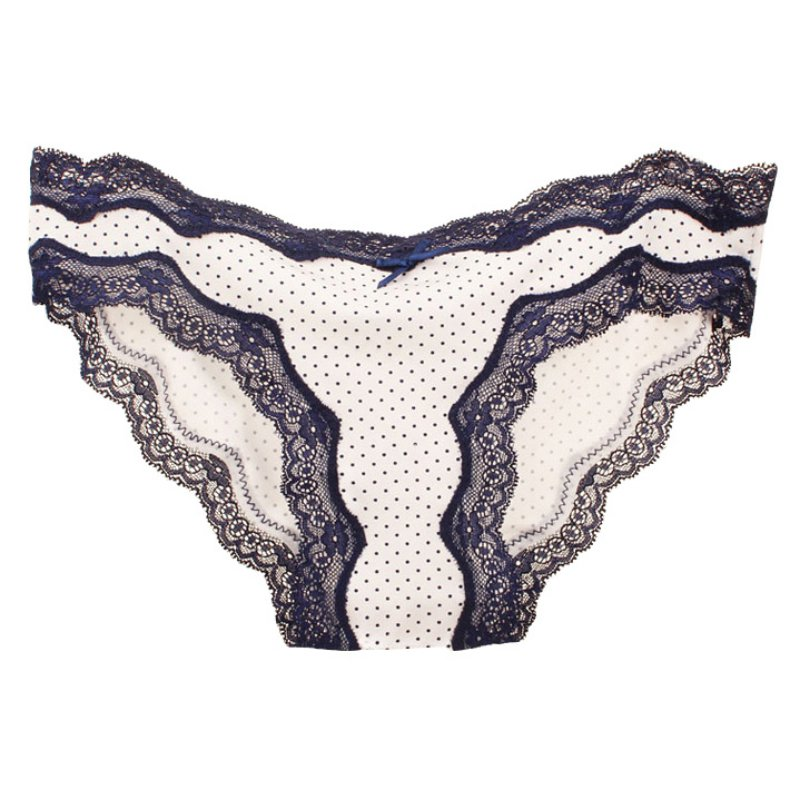 Sexy Women Ladies Lace Panties Dot Printed Lady Underwear Briefs