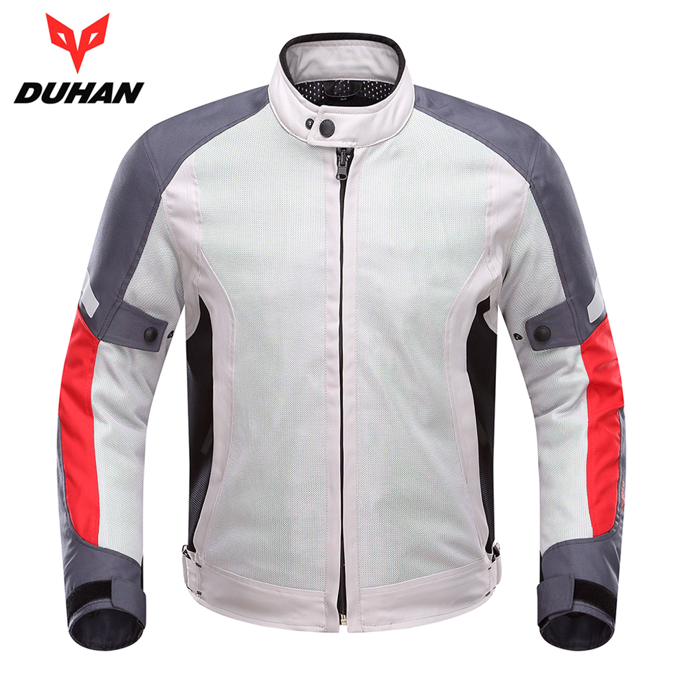 DUHAN Motorcycle Jacket Men Motorcycle Riding Protective Gear Breathable Mesh Moto Jacket Motorcycle Clothing for Spring Summer 2017 new camel outdoor spring summer skin clothing girls waterproof breathable windbreaker sun protective jacket a7s1u7178
