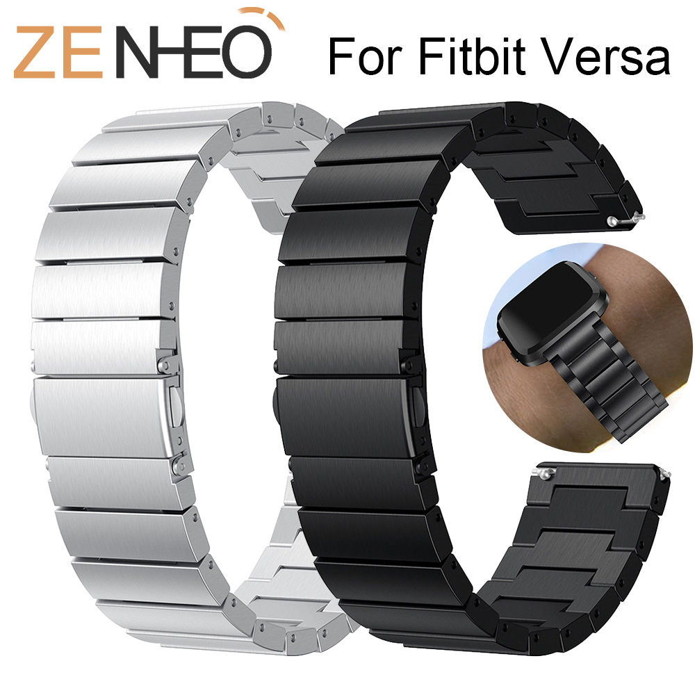 High Quality Metal Strap For Fitbit Versa watch band Stainless Steel Bracelet For Fitbit Versa Wristband Replacement AccessoriesHigh Quality Metal Strap For Fitbit Versa watch band Stainless Steel Bracelet For Fitbit Versa Wristband Replacement Accessories