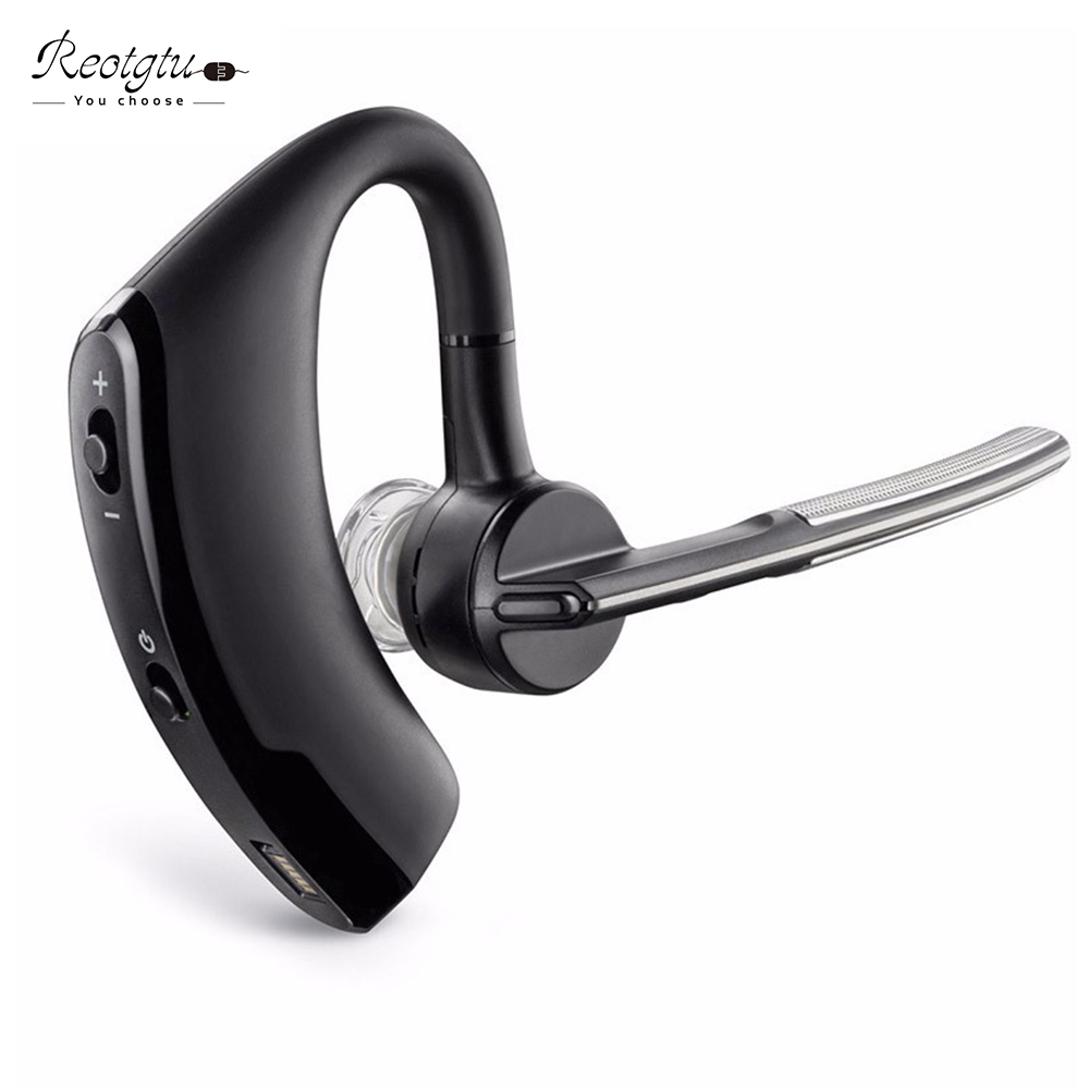 REOTGTU Business Bluetooth Earphone Sport Wireless Bluetooth Headset Bass Earbuds Music Earphone with Micophone Headphone