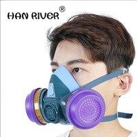 HANRIVER Gaz masque peinture peinture spéciale poussière respirateur formaldéhyde gaz fumée activé masques de carbone