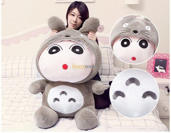 Fancytrader 31\'\' 78cm Giant  Funny Stuffed Soft Plush Totoro Crayon Shin-chan, Free Shipping FT50395 (6)