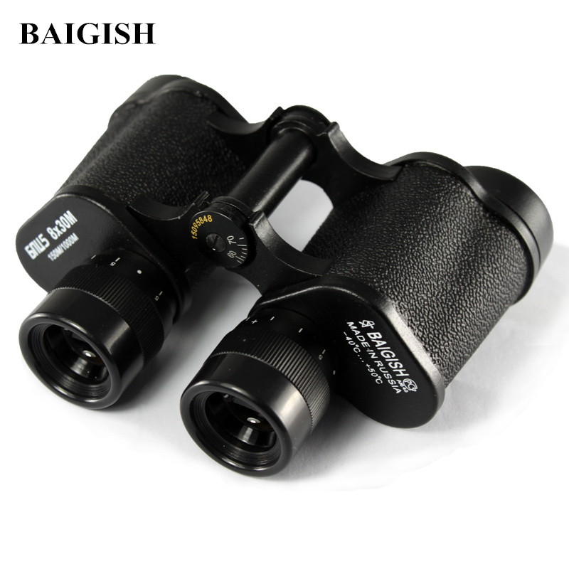 Russian Military Binoculars Baigish 8X30 Professional Telescope Full metal Army binocular with Rangefinder eyepiece for Hunting