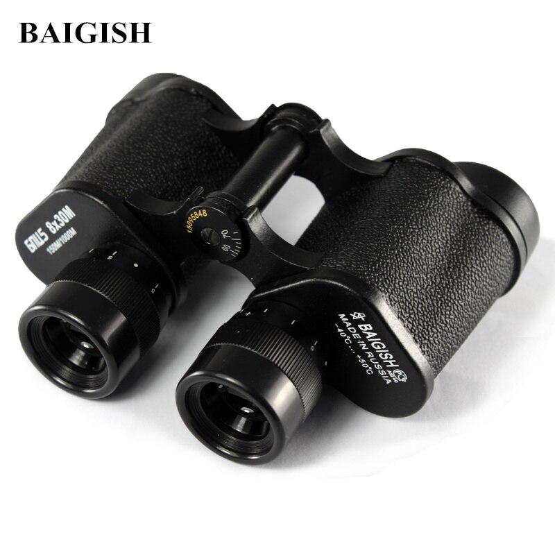 Russian Military Binoculars Baigish 8X30 Professional Telescope Full-metal Army binocular with Rangefinder eyepiece for Hunting Бинокль