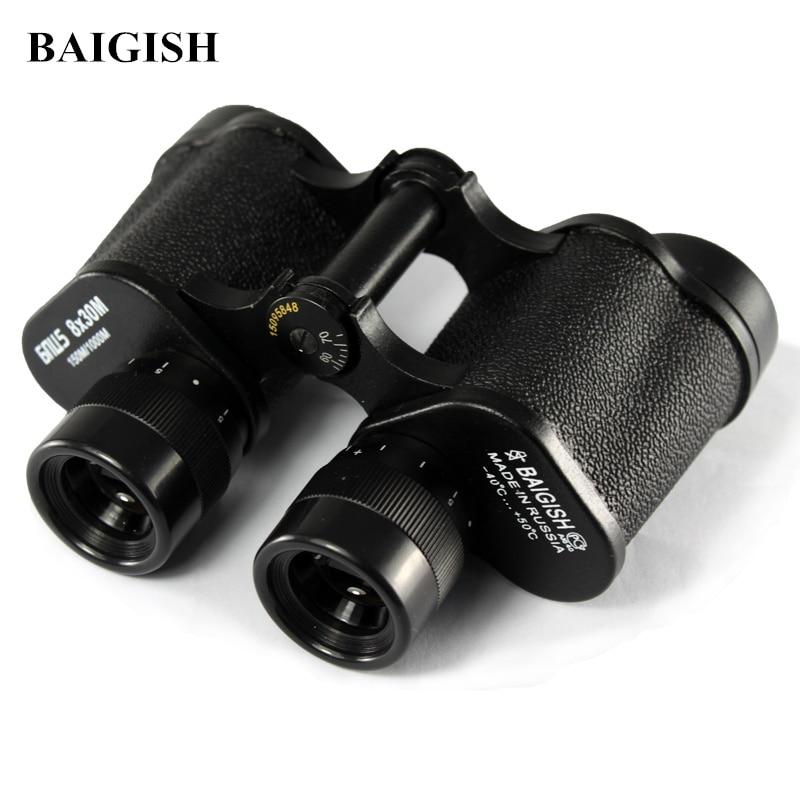 Russian Military Binoculars Baigish 8X30 Professional Telescope Full-metal Army binocular with Rangefinder eyepiece for Hunting tactical military binocular 8x30 binocular telescope pp3 0046