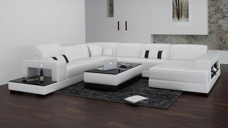 Divano Nero Moderno : Bianco e nero moderno divano in pelle in bianco e nero moderno