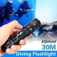 1000LM Waterproof Zoomable Underwater Diving 30m LED Flashlight Lamp Torch Outdoor Camping Used 18650 AAA For