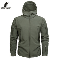 Mege Men Military Jacket US Army Clothing Tactical Sharkskin Softshell Autum Winter Hoodies Outerwear Camouflage Jacket