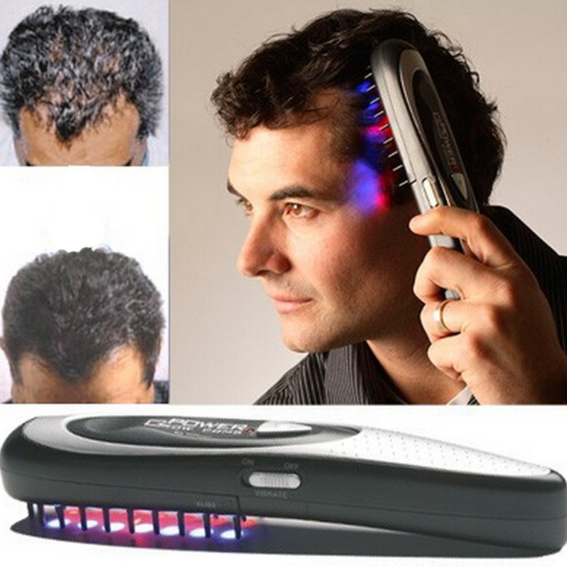 1 pc Laser massage comb body massager Hair comb massage equipment Comb Hair growth Care Treatment A4 laser hair growth comb 6 color led light micro current for hair massage remove scurf n repair hair hair loss