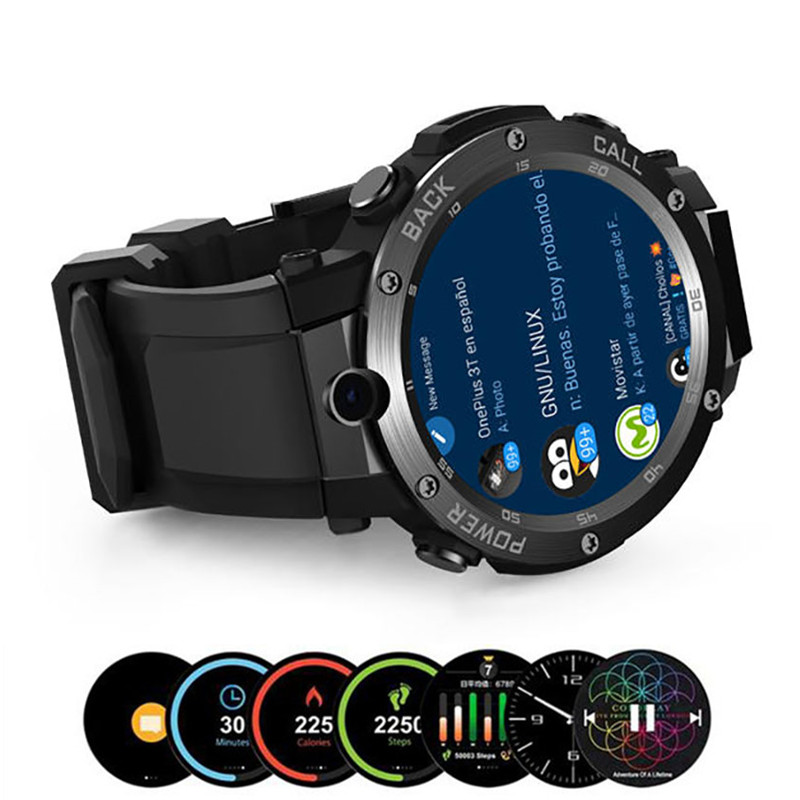 1.39inch GPS WIFI Smart WristBand Camera Heart Rate Monitor Smart Watch - Black SmartWatch Wrist Watches Men's Sport Newest gft d09 smart watches wifi gps sport wrist watch for healthy with heart rate monitor music smart watch smart camera watch