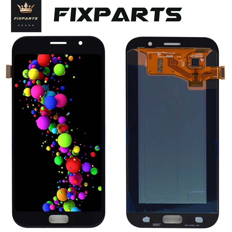 For <font><b>SAMSUNG</b></font> GALAXY A7 2017 A720 <font><b>A720F</b></font> SM-<font><b>A720F</b></font> LCD Display Touch <font><b>Screen</b></font> Digitizer Assembly Replacement For 5.7