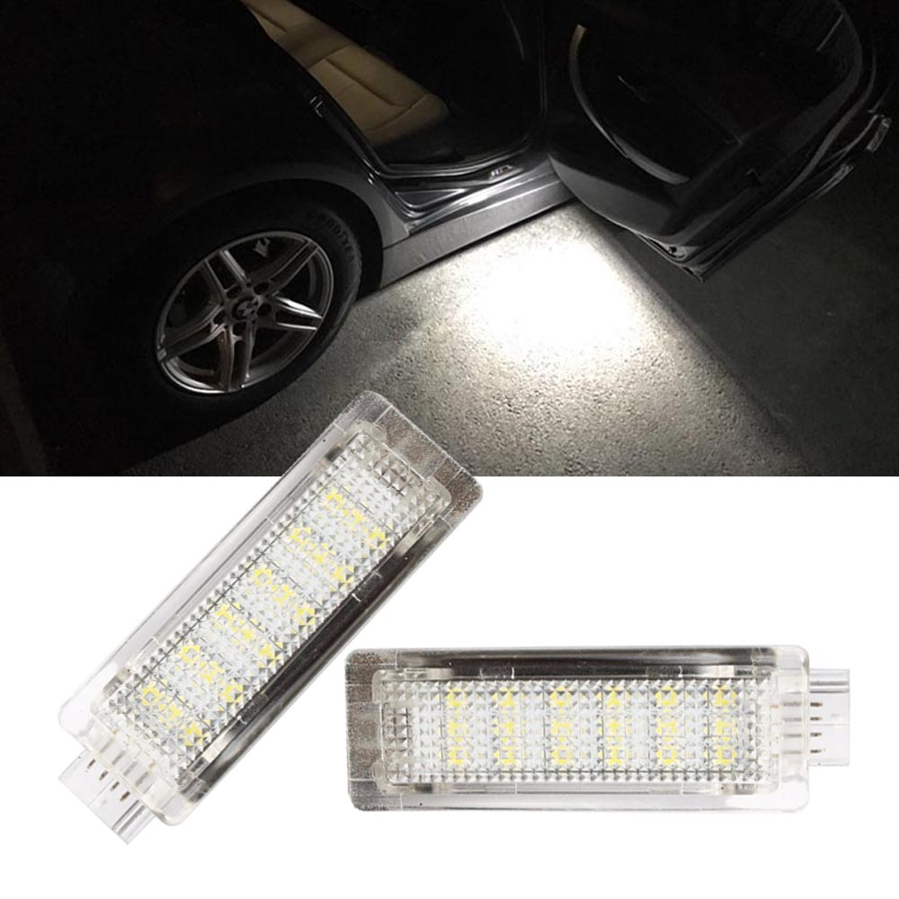 2PCS LED Courtesy Footwell Under Door Light No Error for BMW E70 X5 F01 F02 F03 F04 E90 E91 E92 E83 X3 E84 E86 Z4 R50 R52 R53