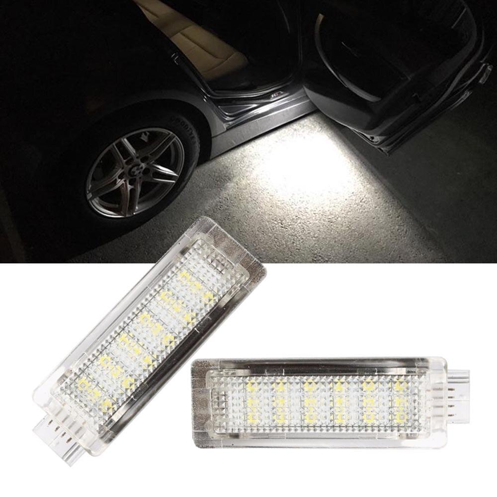 2PCS LED Courtesy Footwell Under Door Light No Error for BMW E70 X5 F01 F02 F03 F04 E90 E91 E92 E83 X3 E84 E86 Z4 R50 R52 R53