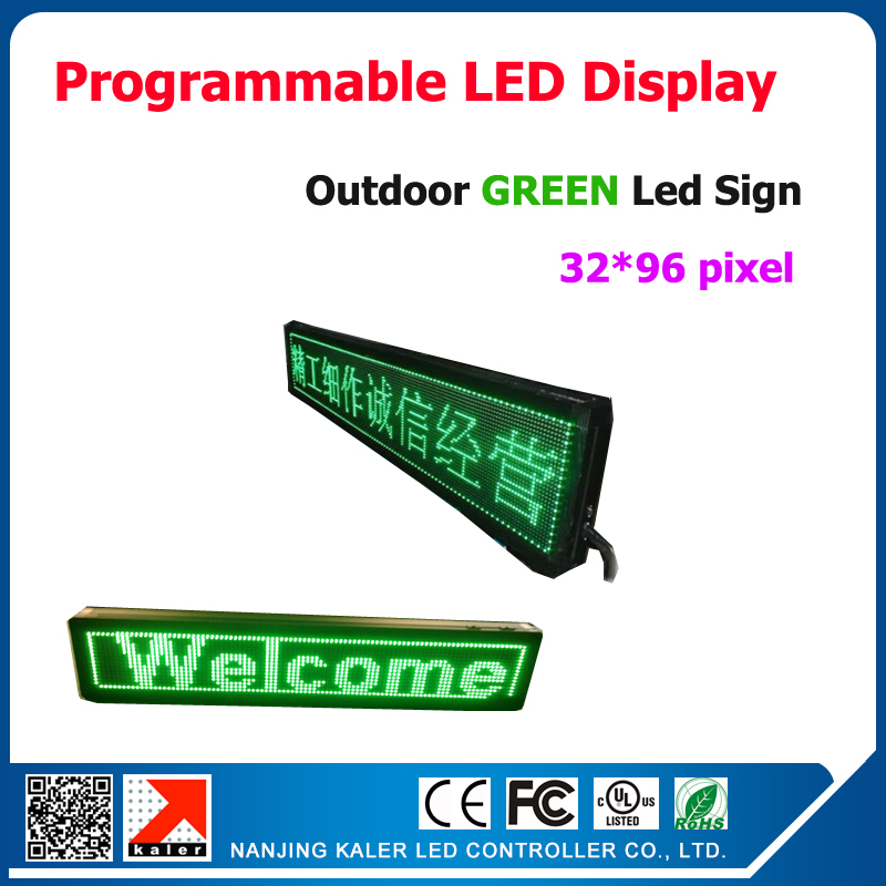 P10 Green Color LED Modules 320*160mm Outdoor LED Advertising Display Screen High Quality Waterproof LED Sign