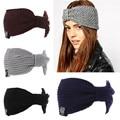 New 2017 Winter Womens Ear Warmer Crochet Turban Knit Wool Head Wrap Hairband Headband Headwear Female Hair Band Accessories