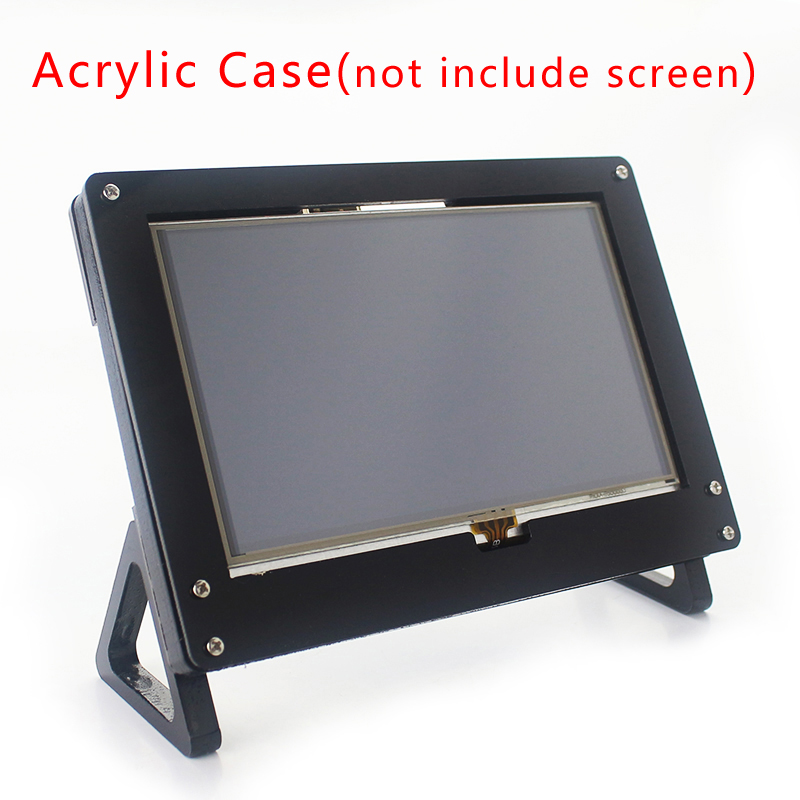 For Raspberry Pi 5 Inch Screen Case Black LCD Holder Bracket For Raspberry Pi 3 Model B Plus 5 Inch Display Case