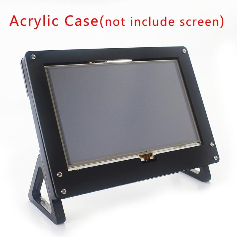 For Raspberry Pi 5 Inch Screen Case Black White LCD Holder Bracket For Raspberry Pi 3 Model B Plus 5 Inch Display Case