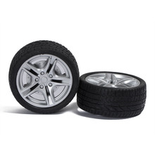 4pcs 40mm 48mm wheels 1 10 emulation car tire rubber wheel hub wheels toy model accessories